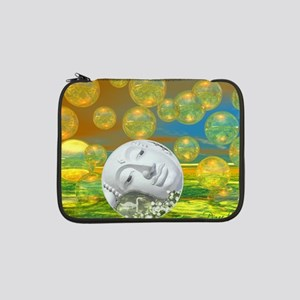 "Peace – Golden and Emerald Seren 13"" Laptop Sleeve"