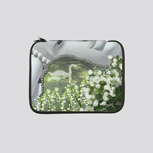"In the Garden - Quan Yin Flowers 13"" Laptop Sleeve"