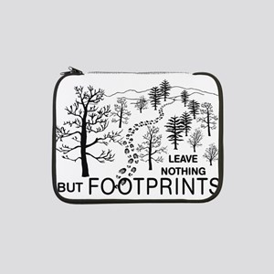 "Leave Nothing but Footprints BLK 13"" Laptop Sleeve"