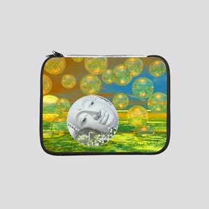 "Peace, Abstract Golden 13"" Laptop Sleeve"