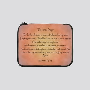 "The Lord's Prayer Christian 13"" Laptop Sleeve"