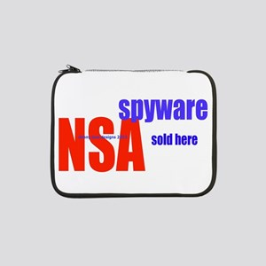 "NSA Spyware Sold Here 13"" Laptop Sleeve"
