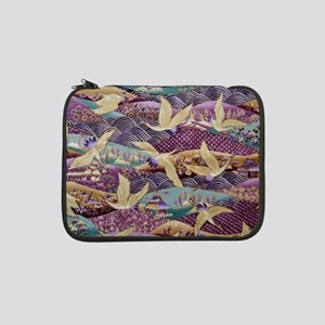 "Flying Crane Fabric 13"" Laptop Sleeve"
