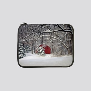 "Red Barn in the Snow 2011 13"" Laptop Sleeve"