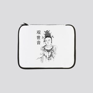"Vintage Guan Yin 13"" Laptop Sleeve"