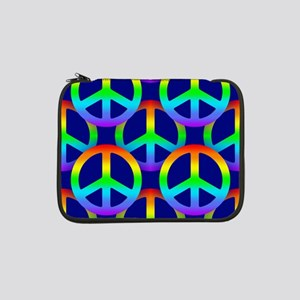 "Rainbow Peace Sign Pattern 13"" Laptop Sleeve"