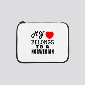 "I Love Norwegian 13"" Laptop Sleeve"