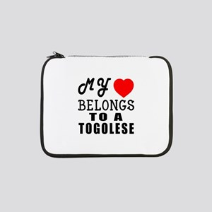 "I Love Togolese 13"" Laptop Sleeve"