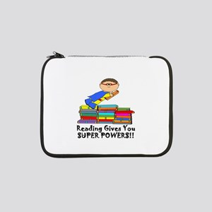 "Reading Gives you Super Powers! 13"" Laptop Sleeve"