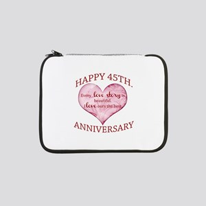 "45th. Anniversary 13"" Laptop Sleeve"