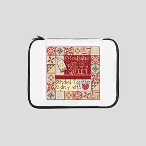 "Quilting Friendships 13"" Laptop Sleeve"