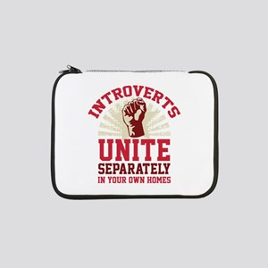 "Introverts Unite 13"" Laptop Sleeve"