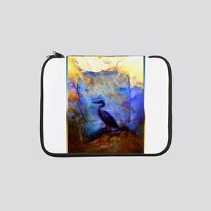 "Beautiful great heron, wildlife art 13"" Laptop Sle"