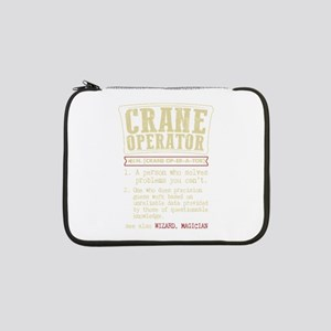 "Crane Operator Funny Dictionary 13"" Laptop Sleeve"