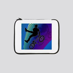 "BMX in Fractal Movie Marquee 13"" Laptop Sleeve"