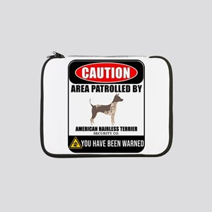 "Caution Area Patrolled By Americ 13"" Laptop Sleeve"