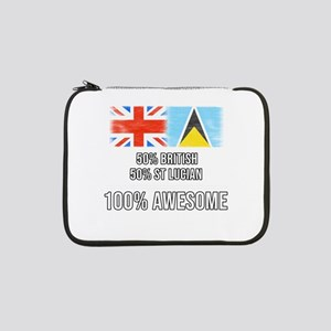 "50% British 50% St Lucian 100% A 13"" Laptop Sleeve"