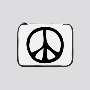 "IrregularPeaceSignBW 13"" Laptop Sleeve"