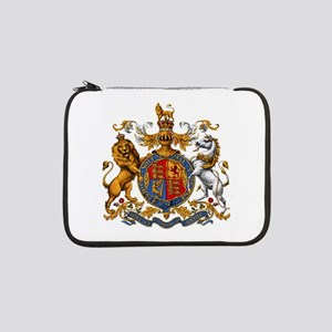 "British Royal Coat of Arms 13"" Laptop Sleeve"