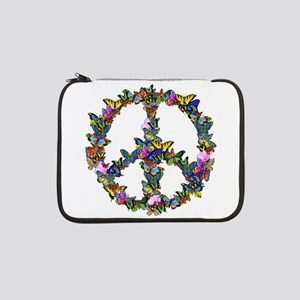 "Butterfly Peace Symbol 13"" Laptop Sleeve"