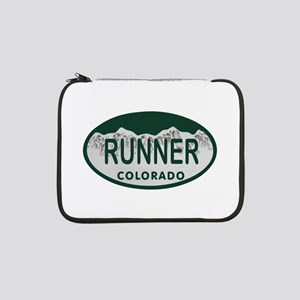 "Runner Colo License Plate 13"" Laptop Sleeve"