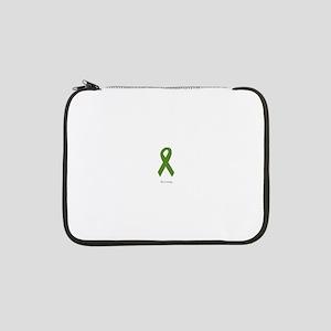 "Green Ribbon: Strong 13"" Laptop Sleeve"