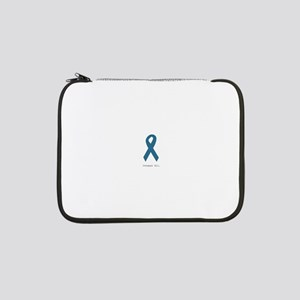 """Conquer All. Teal Ribbon 13"""" Laptop Sleeve"""