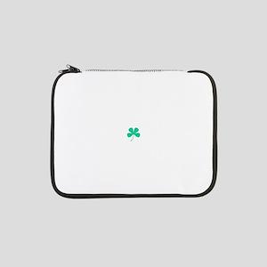 "Green Irish Shamrock Rocker 4Kar 13"" Laptop Sleeve"