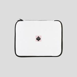 """Queen of Spades design 13"""" Laptop Sleeve"""