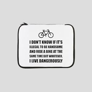 "Handsome Ride Bike 13"" Laptop Sleeve"