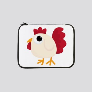"""Funny White Chicken 13"""" Laptop Sleeve"""