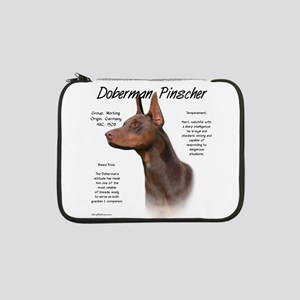 "Doberman (red) 13"" Laptop Sleeve"