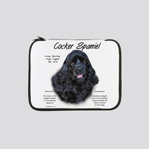 "Cocker Spaniel (black) 13"" Laptop Sleeve"