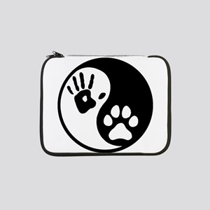 "Human & Dog Yin Yang 13"" Laptop Sleeve"
