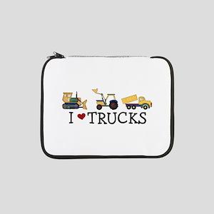 "I Love Trucks 13"" Laptop Sleeve"
