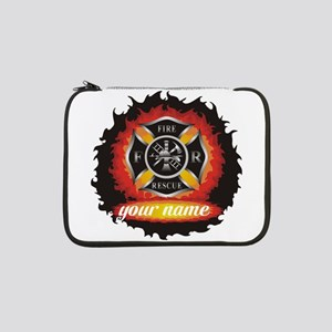 """Personalized Fire and Rescue 13"""" Laptop Sleeve"""