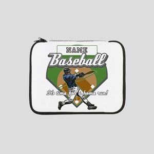 """Personalized Home Run Time 13"""" Laptop Sleeve"""