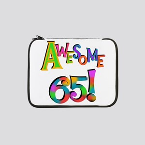 "Awesome 65 Birthday 13"" Laptop Sleeve"