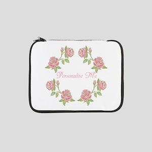 "Personalized Rose 13"" Laptop Sleeve"