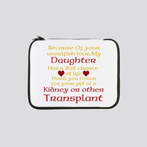 """Personalize Transplant Donor Thank You 13"""" Laptop"""