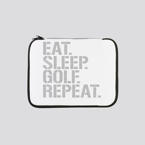 "Eat Sleep Golf Repeat 13"" Laptop Sleeve"