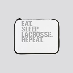 "Eat Sleep Lacrosse Repeat 13"" Laptop Sleeve"
