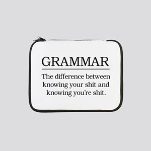 "grammar knowing your shit 13"" Laptop Sleeve"