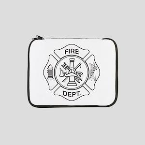 "Fire department symbol 13"" Laptop Sleeve"