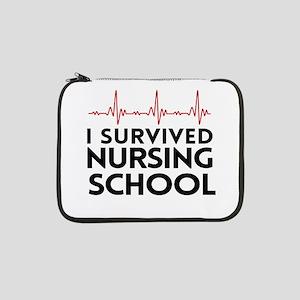 "I survived nursing school 13"" Laptop Sleeve"