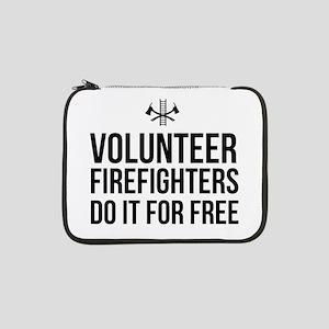 """Volunteer firefighters free 13"""" Laptop Sleeve"""