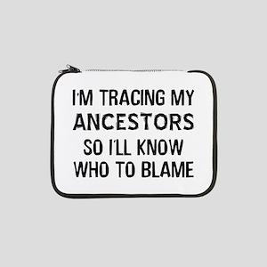 "Funny Genealogy 13"" Laptop Sleeve"