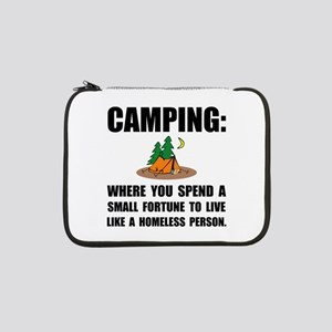 "Camping Homeless 13"" Laptop Sleeve"