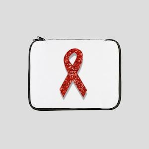 "glitter red ribbon 13"" Laptop Sleeve"