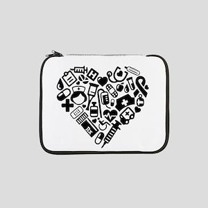"""Nurse Heart 13"""" Laptop Sleeve"""